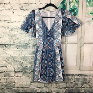 Unbranded Summer Vibes Blue Romper Size Small